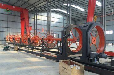 çeliku CNC saldim kafaz makine çeliku roll sharrë përdorur saldator për ndërtimin